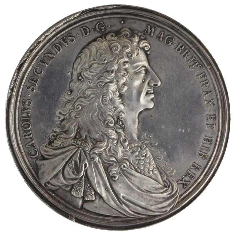 King Charles II, by John Roettier, 1660 - NPG 6076 - © National Portrait Gallery, London