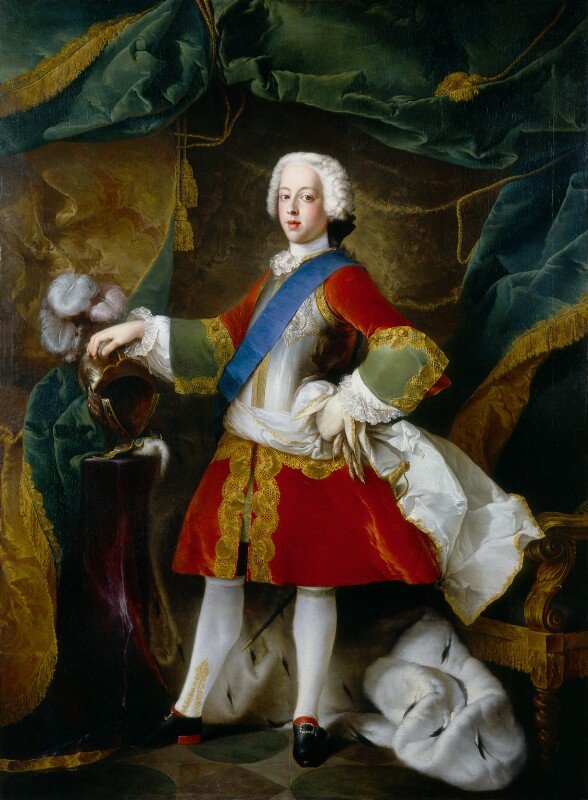 Prince Charles Edward Stuart, by Louis Gabriel Blanchet, 1738 - NPG 5517 - © National Portrait Gallery, London