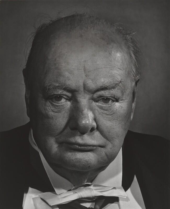 Winston Churchill, by Yousuf Karsh, 1956 - NPG P244 - © Karsh / Camera Press