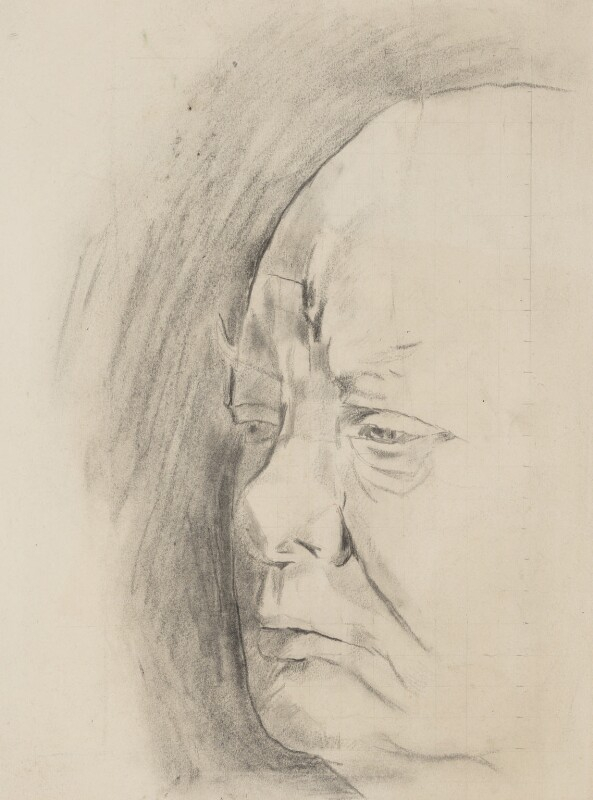 Winston Churchill, by Graham Vivian Sutherland, 1954 - NPG 5333 - © National Portrait Gallery, London