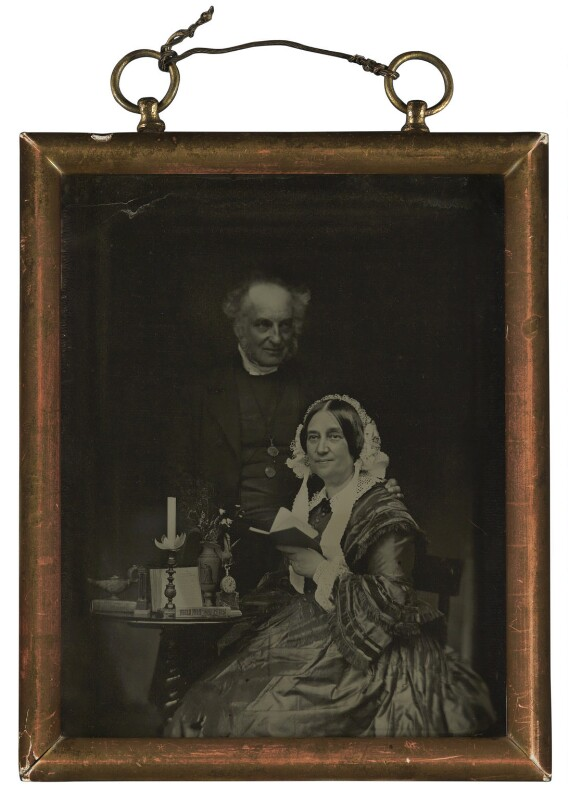 Derwent Coleridge; Mary Coleridge (née Pridham), by Unknown photographer, 1856 - NPG P322 - © National Portrait Gallery, London