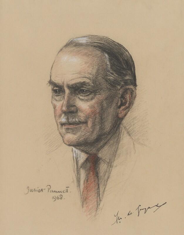 Sir Francis Wilfred ('Freddie') de Guingand, by Juliet Pannett, 1968 - NPG 6035 - © National Portrait Gallery, London