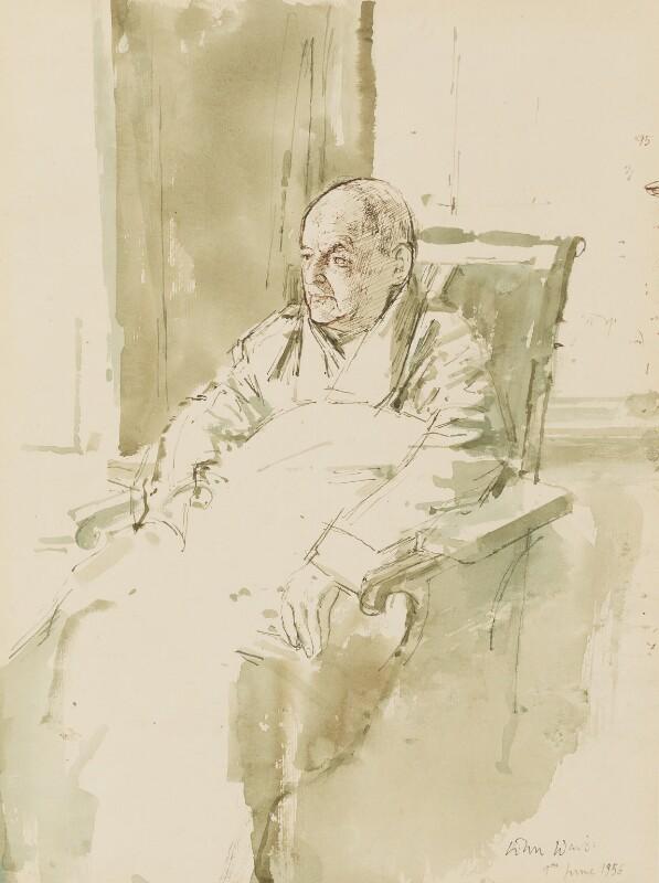 Walter de la Mare, by John Stanton Ward, 1956 - NPG 5483 - © National Portrait Gallery, London