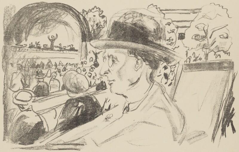 Frederick Delius, by Edvard Munch, circa 1922 - NPG 5415 - © National Portrait Gallery, London
