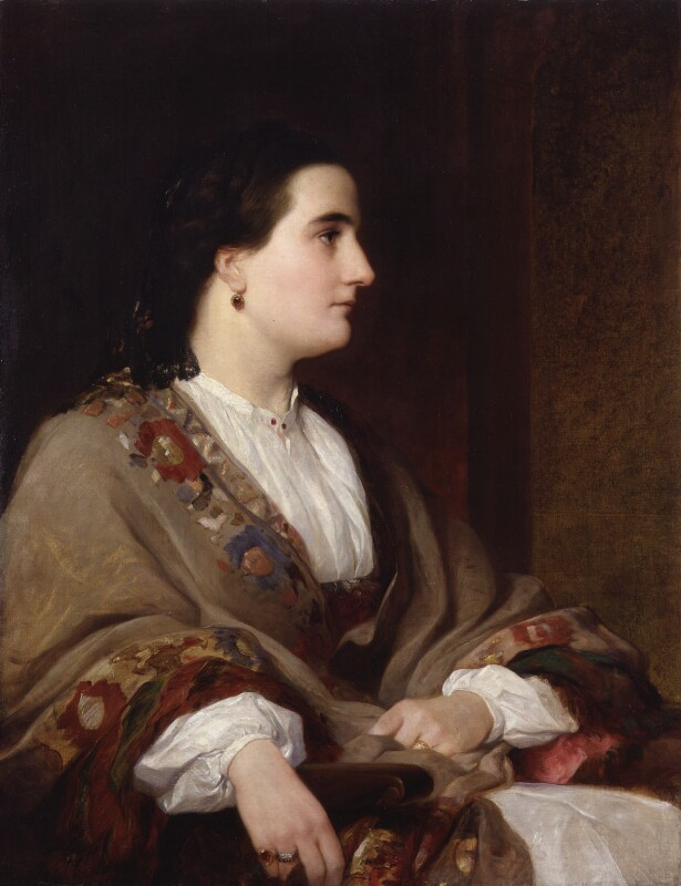 Lucie, Lady Duff Gordon, by Henry Wyndham Phillips, 1851 - NPG 5584 - © National Portrait Gallery, London