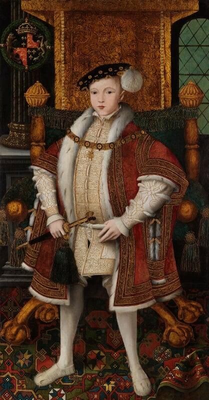 King Edward VI, by Workshop associated with 'Master John', circa 1547 - NPG 5511 - © National Portrait Gallery, London