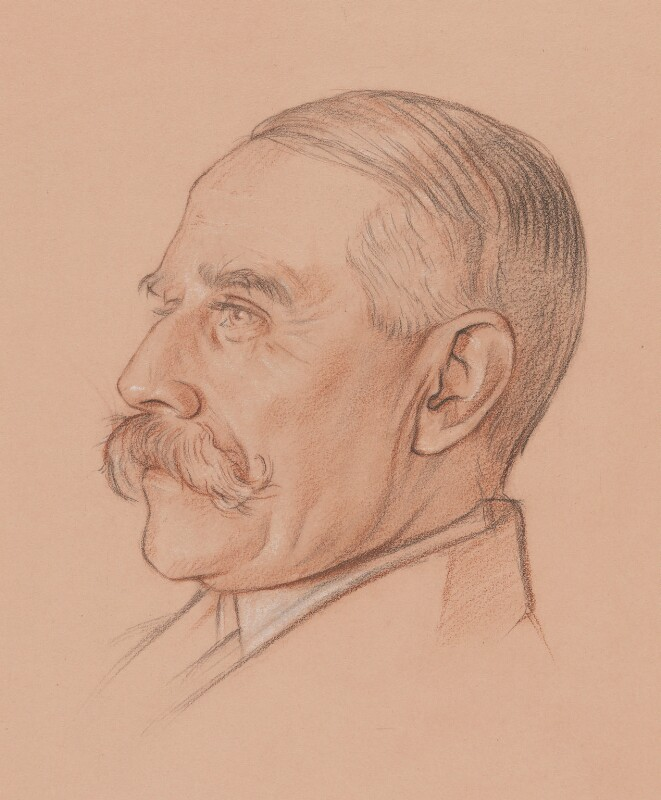 Sir Edward Elgar, Bt, by William Rothenstein, circa 1919 - NPG 5707 - © National Portrait Gallery, London
