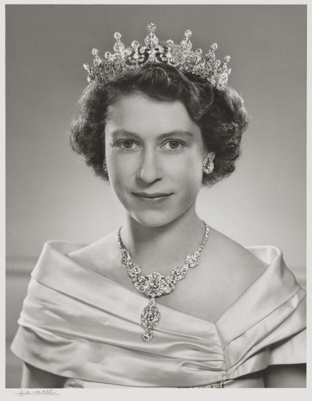 Queen Elizabeth II, by Yousuf Karsh, 1951 - NPG P336 - © Karsh / Camera Press