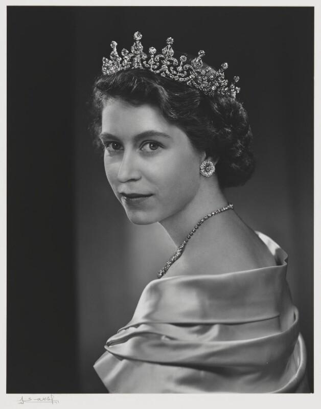 Queen Elizabeth II, by Yousuf Karsh, 1951 - NPG P337 - © Karsh / Camera Press