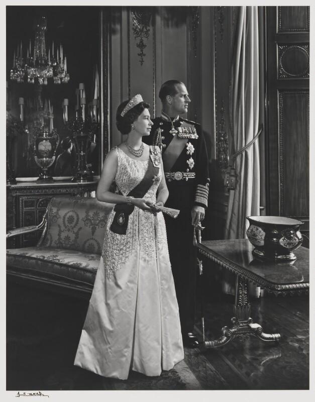 Queen Elizabeth II; Prince Philip, Duke of Edinburgh, by Yousuf Karsh, 1966 - NPG P344 - © Karsh / Camera Press