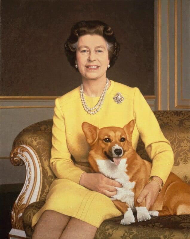 Queen Elizabeth II, by Michael Leonard, 1985-1986 - NPG 5861 - © National Portrait Gallery, London