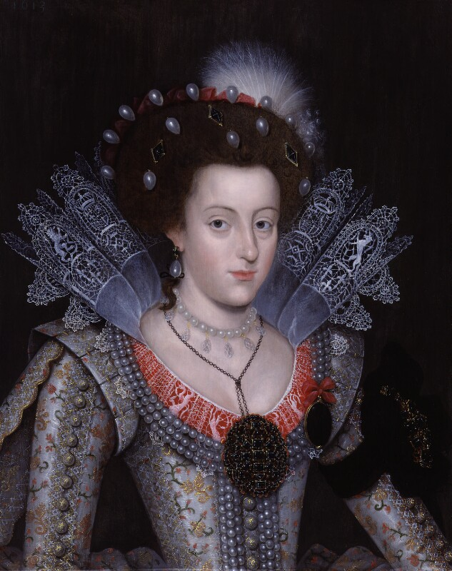 Princess Elizabeth, Queen of Bohemia and Electress Palatine, by Unknown artist, 1613 - NPG 5529 - © National Portrait Gallery, London