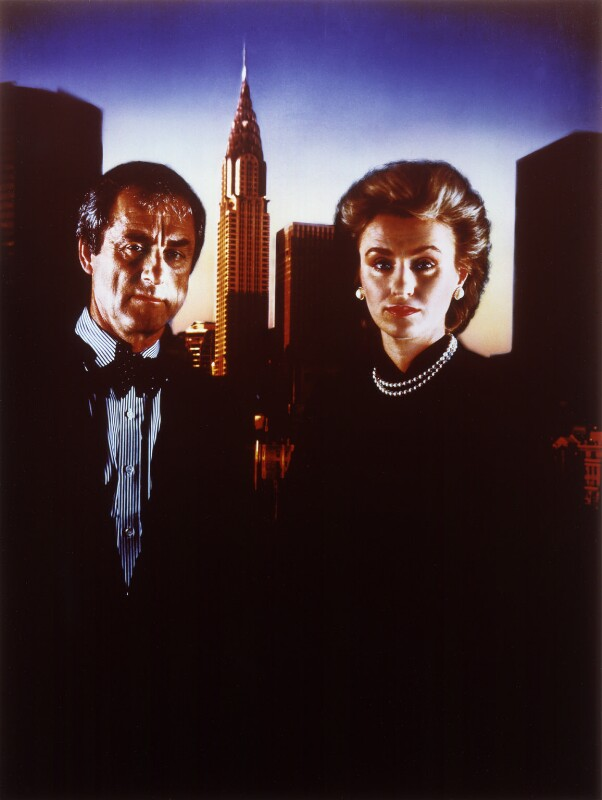 Harold Matthew Evans; Tina Brown ('The Editors'), by David Buckland, 1987 - NPG P380 - © National Portrait Gallery, London