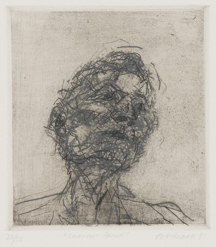 Lucian Freud, by Frank Auerbach, 1981 - NPG 5466 - © Frank Auerbach / Marlborough Fine Art (London) Ltd / National Portrait Gallery, London