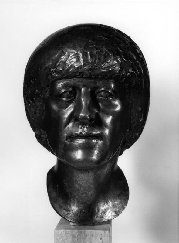 Elisabeth Frink, by Robert Clatworthy, 1983 - NPG 5779 - Photograph © National Portrait Gallery, London