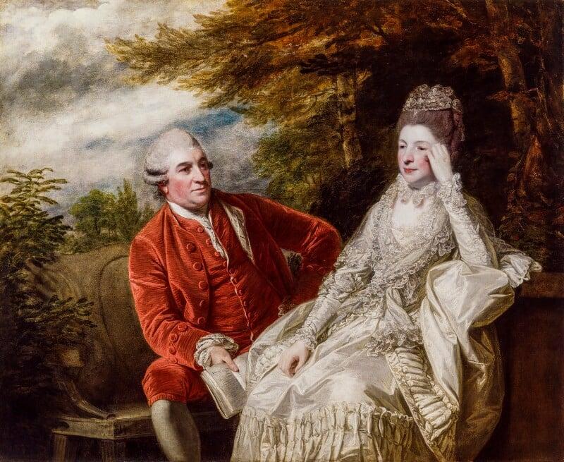 David Garrick; Eva Maria Garrick (née Veigel), by Sir Joshua Reynolds, 1772-1773 - NPG 5375 - © National Portrait Gallery, London