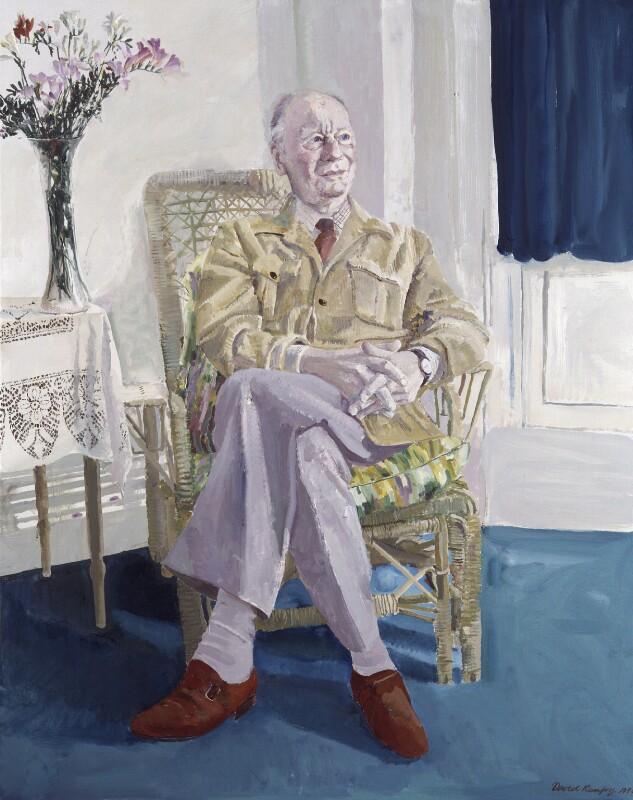 John Gielgud, by David Remfry, 1984 - NPG 5780 - © National Portrait Gallery, London