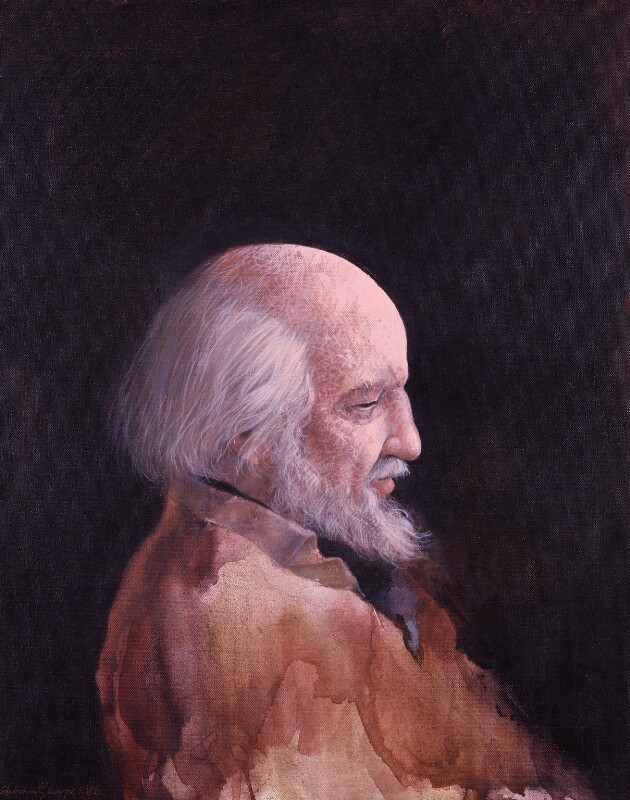 Sir William Gerald Golding, by Adrian George, 1986 - NPG 5922 - © Adrian George / National Portrait Gallery, London