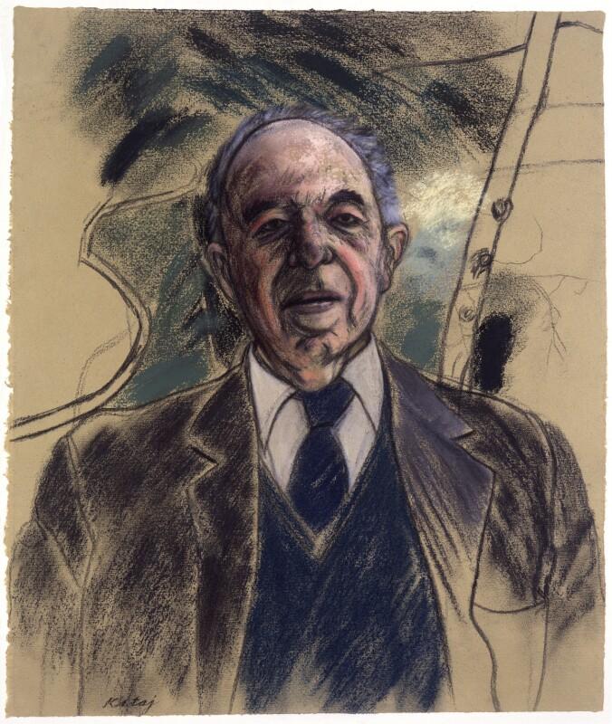 Sir Ernst Hans Josef Gombrich, by R.B. Kitaj, 1986 - NPG 5892 - © National Portrait Gallery, London