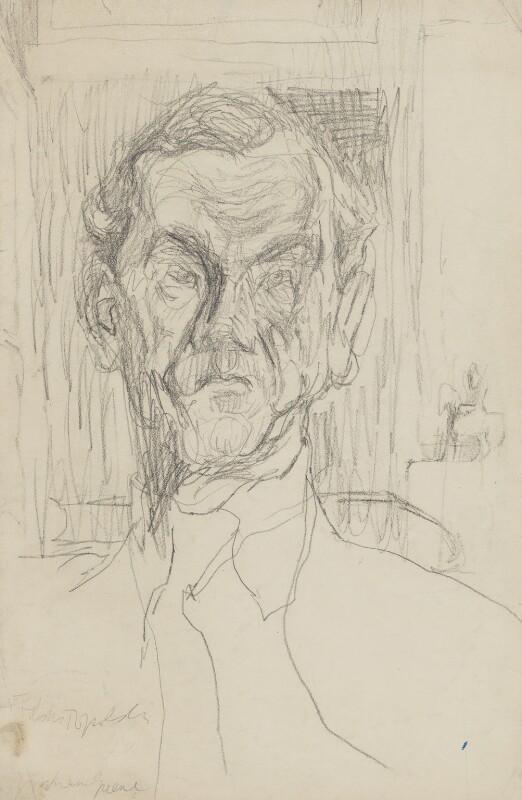 Graham Greene, by Feliks Topolski, circa 1950-1955 - NPG 5864 - © estate of Feliks Topolski