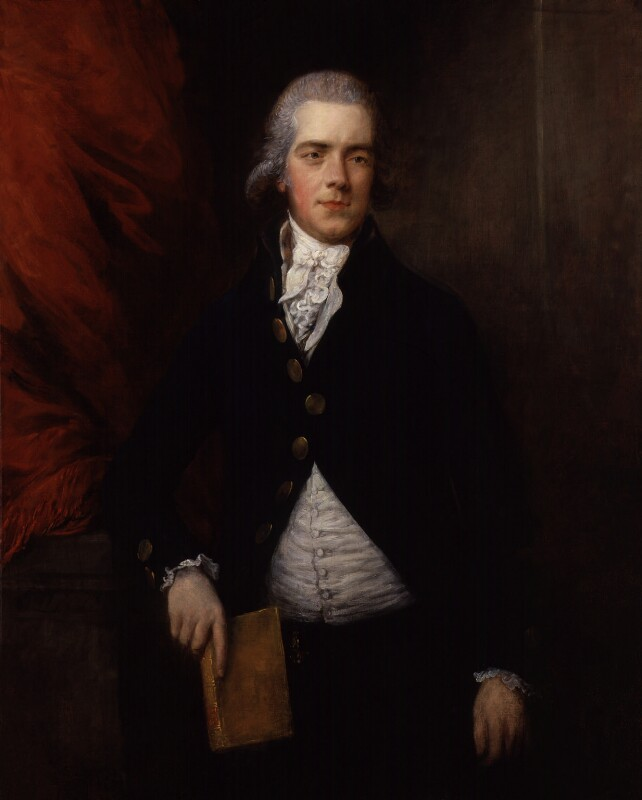 William Wyndham Grenville, 1st Baron Grenville, by Gainsborough Dupont, circa 1790 - NPG 5715 - © National Portrait Gallery, London