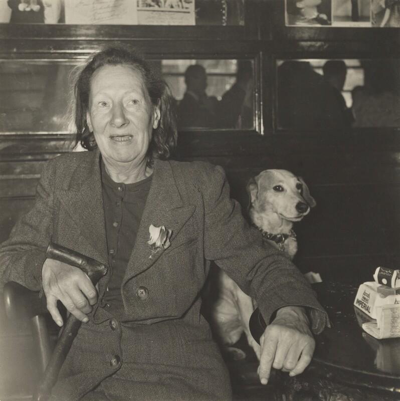 Nina Hamnett, by Daniel Farson, 1952 - NPG P288 - © Michael Parkin / National Portrait Gallery, London