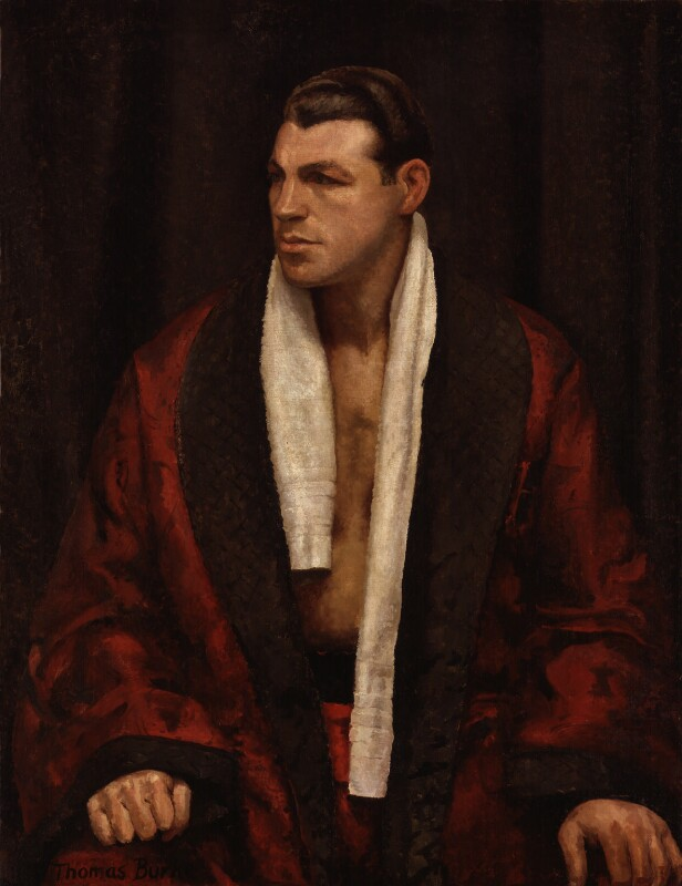 Len Harvey, by Thomas Burke, circa 1938 - NPG 6832 - © reserved; collection National Portrait Gallery, London