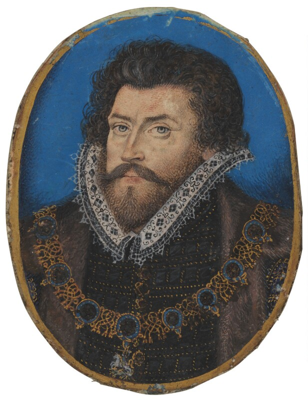 Sir Christopher Hatton, by Nicholas Hilliard, after 1588 - NPG 5549 - © National Portrait Gallery, London