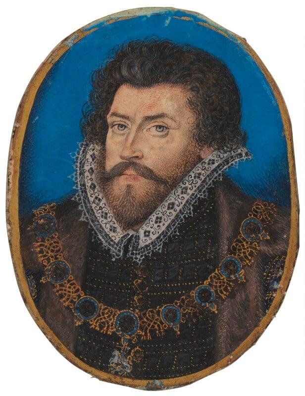 Sir Christopher Hatton, by Nicholas Hilliard, after 1588 - NPG 5549 - © National Portrait Gallery, London