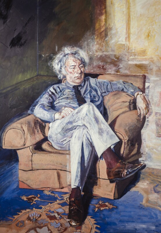 Seamus Heaney, by Peter Edwards, 1987-1988 - NPG 6023 - © National Portrait Gallery, London