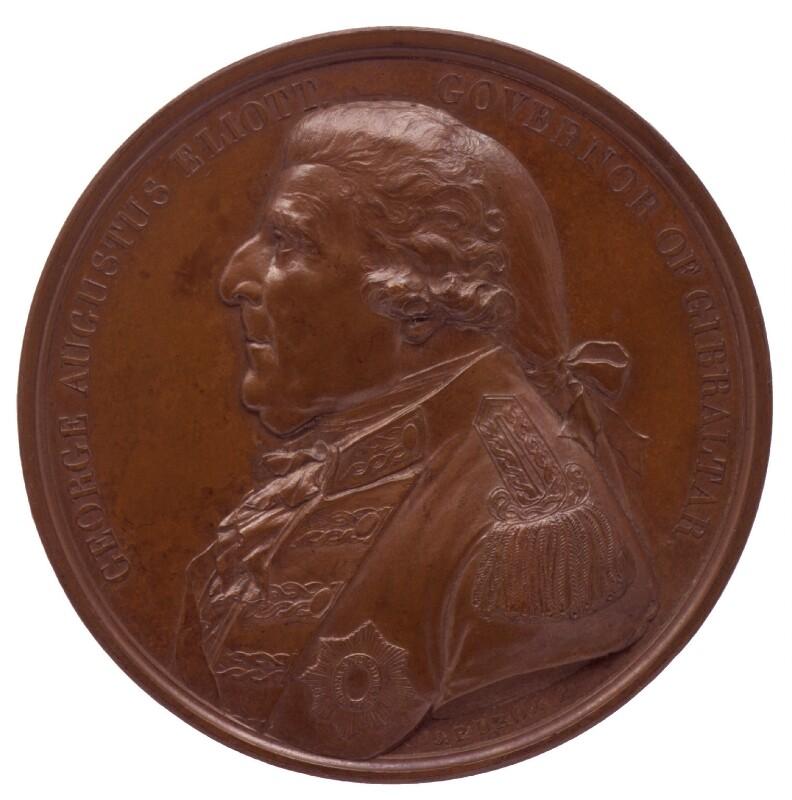 George Augustus Eliott, 1st Baron Heathfield, by Jean-Pierre Droz, 1787 -NPG 6079 - © National Portrait Gallery, London
