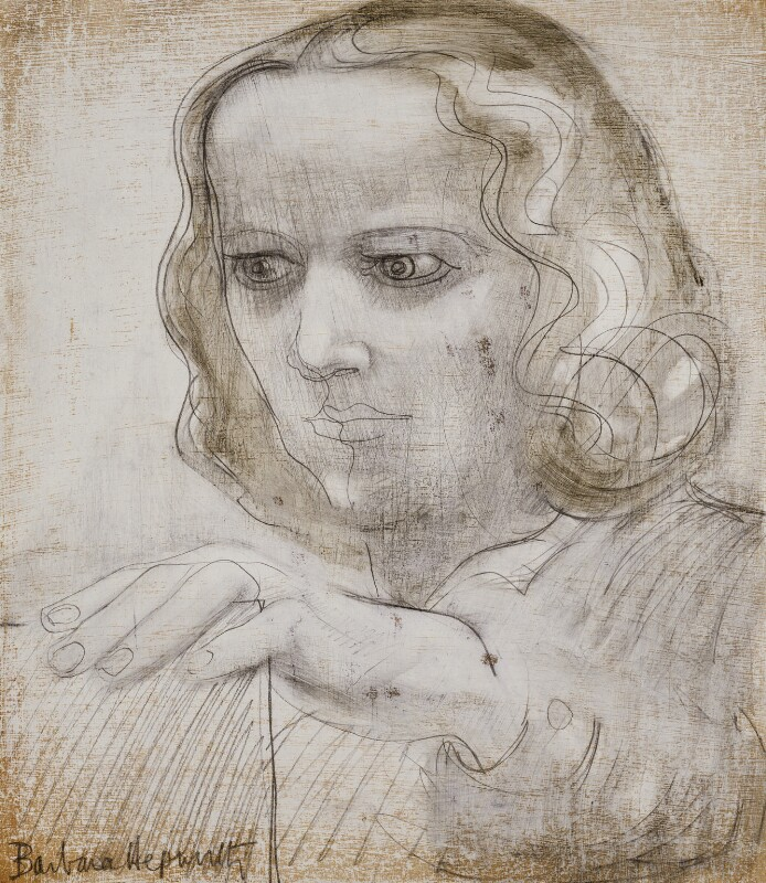 Barbara Hepworth, by Dame Barbara Hepworth, 1950 - NPG 5919 - © Bowness, Hepworth estate