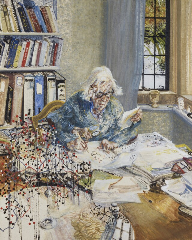 Dorothy Hodgkin, by Maggi Hambling, 1985 - NPG 5797 - © National Portrait Gallery, London