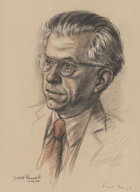 Sir Fred Hoyle, by Juliet Pannett, 1972 - NPG 6036 - © National Portrait Gallery, London