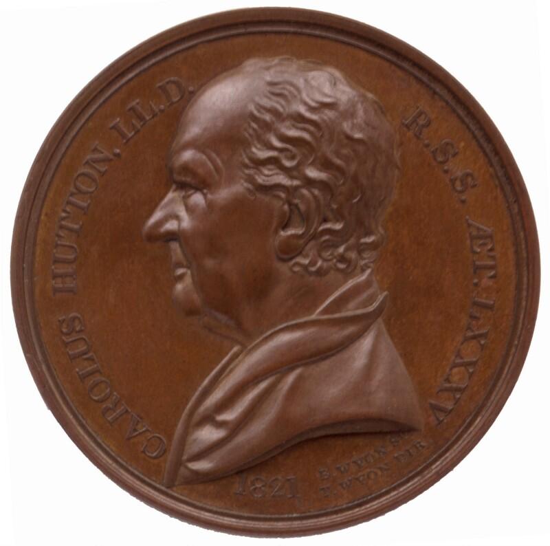 Charles Hutton, by Benjamin Wyon, 1821 - NPG 5783 - © National Portrait Gallery, London