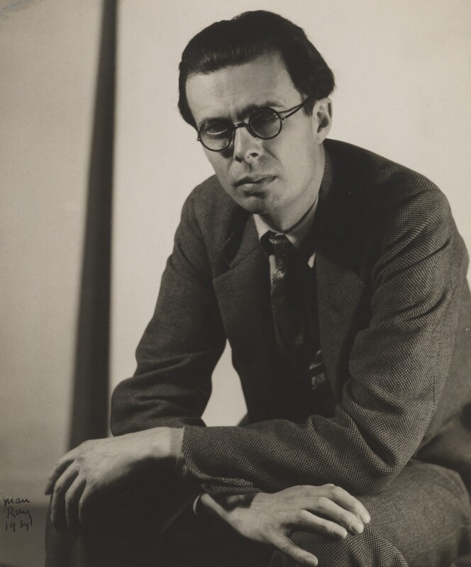 Aldous Huxley, by Man Ray, 26 November 1934 - NPG P359 - © Man Ray Trust/ADAGP, Paris and DACS, London 2018
