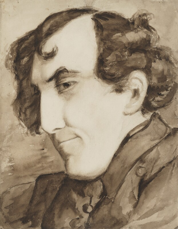 Sir Henry Irving as Alfred Jingle, attributed to Henry Courtney Selous, circa 1870s - NPG 5400 - © National Portrait Gallery, London