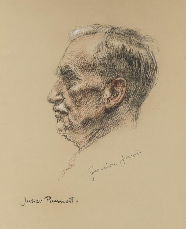 Gordon Jacob, by Juliet Pannett, 1960s? - NPG 5760 - © National Portrait Gallery, London