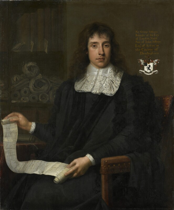 George Jeffreys, 1st Baron Jeffreys of Wem, by John Michael Wright, 1675 - NPG 6047 - © National Portrait Gallery, London