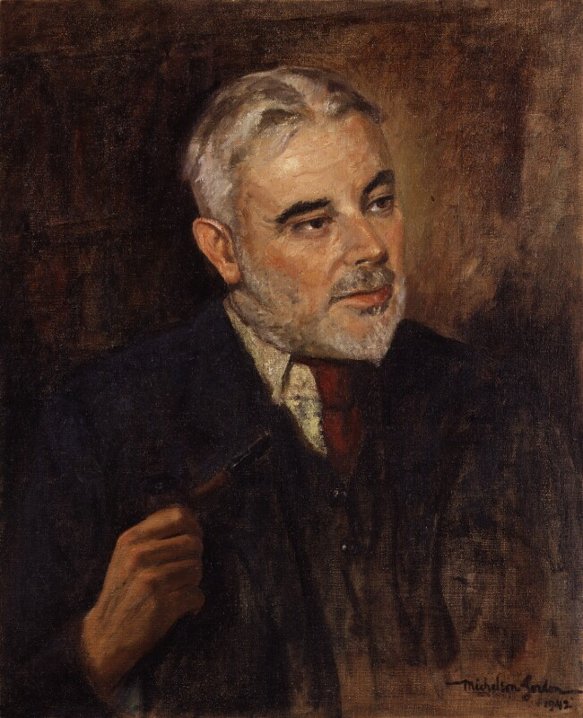 Cyril Edwin Mitchinson Joad, by Michelsen Gordon, 1942 - NPG 5984 - © reserved; collection National Portrait Gallery, London