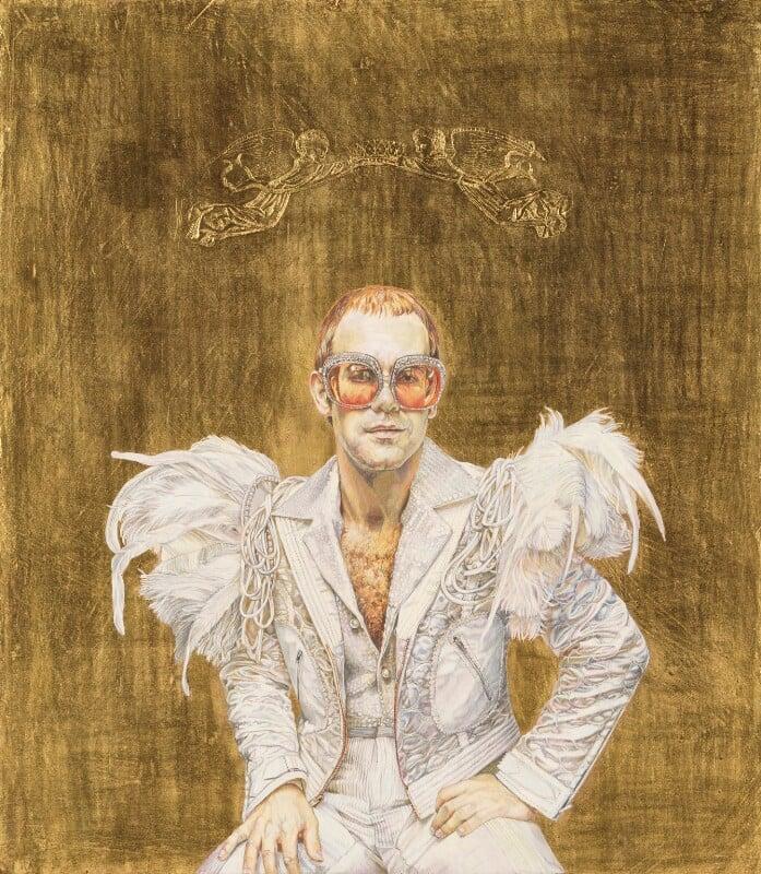 Elton John ('On the throne'), by Suzi Malin, 1978 - NPG 6563 - © Suzi Malin
