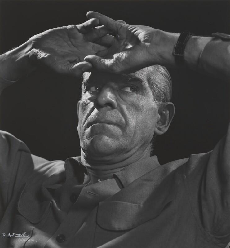 Boris Karloff, by Yousuf Karsh, 1946 - NPG P318 - © Karsh / Camera Press