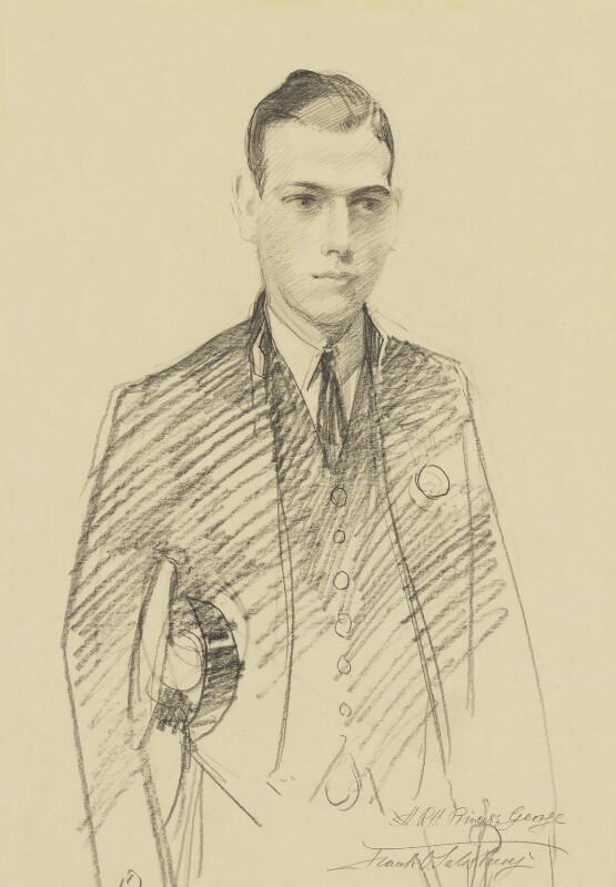 Prince George, Duke of Kent, by Francis Owen ('Frank') Salisbury, 1922 - NPG 5832 - © National Portrait Gallery, London