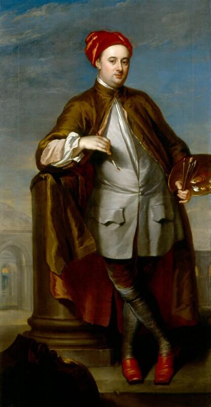 William Kent, by William Aikman, circa 1723-1725 - NPG 6063 - © National Portrait Gallery, London