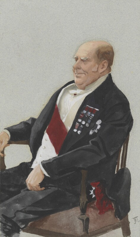 Sir Henry Keppel, by James Jacques Tissot, published in Vanity Fair 22 April 1876 - NPG 5593 - © National Portrait Gallery, London