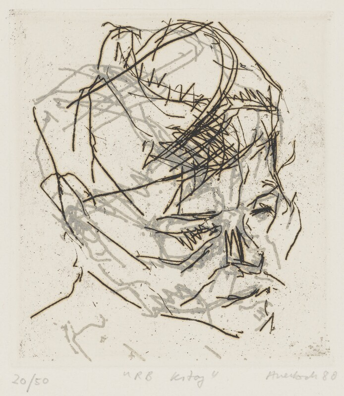R.B. Kitaj, by Frank Auerbach, 1980 - NPG 6558 - © Frank Auerbach / Marlborough Fine Art (London) Ltd / National Portrait Gallery, London