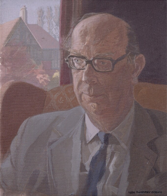 Philip Larkin, by Humphrey Ocean, 1984 - NPG 5746 - © National Portrait Gallery, London