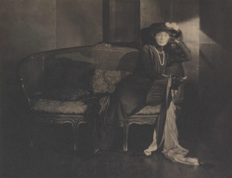 Hazel (née Martyn), Lady Lavery, by Baron Adolph de Meyer, 1910s - NPG P164 - © National Portrait Gallery, London