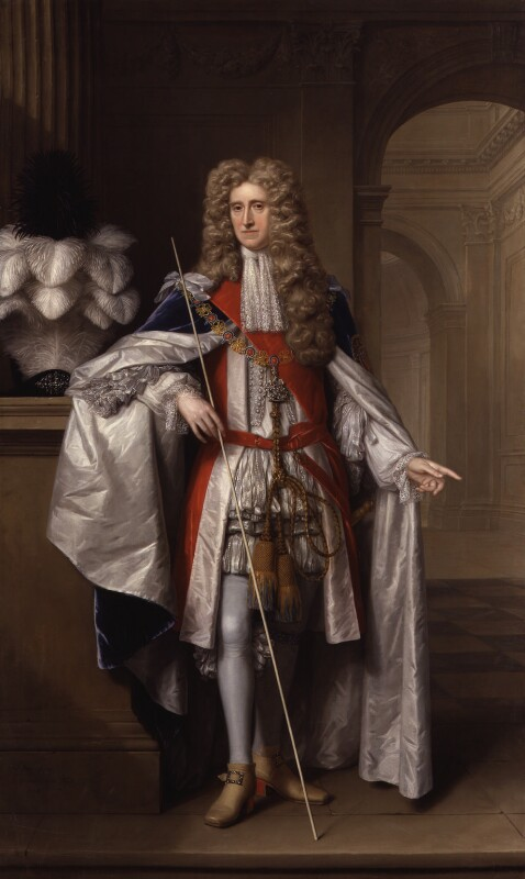 Thomas Osborne, 1st Duke of Leeds ('Lord Danby'), by Johann Kerseboom, and  Jan van der Vaart, 1704 - NPG 5718 - © National Portrait Gallery, London