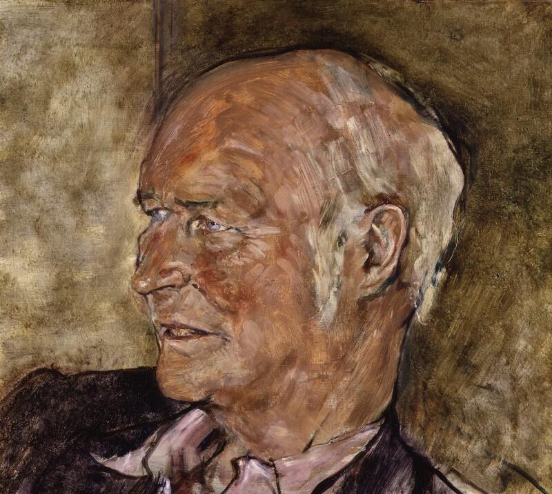 (Rudolph) John Frederick Lehmann, by Derek Hill, 1984 - NPG 5985 - © National Portrait Gallery, London